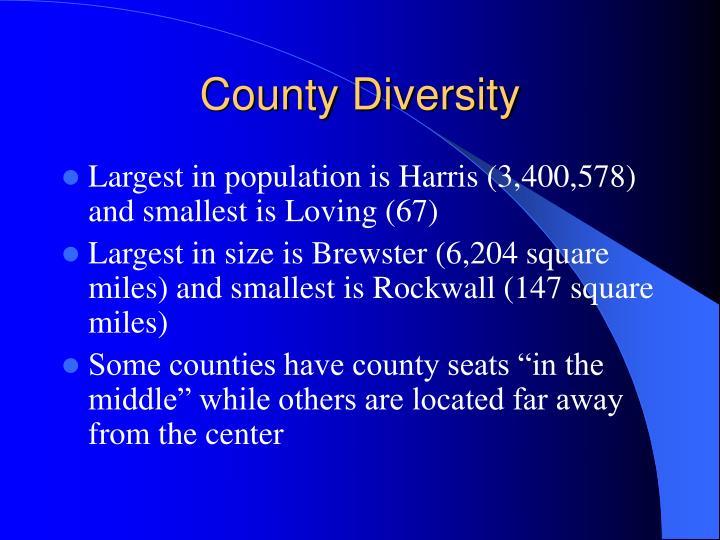 County Diversity