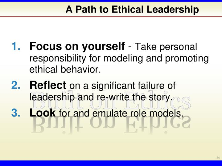 A Path to Ethical Leadership