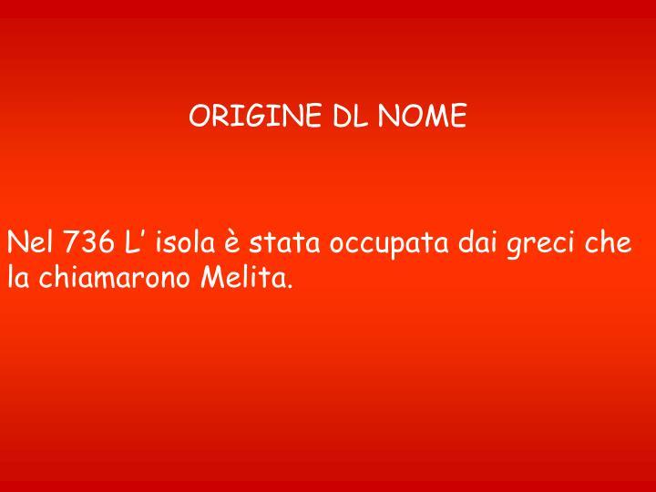 ORIGINE DL NOME