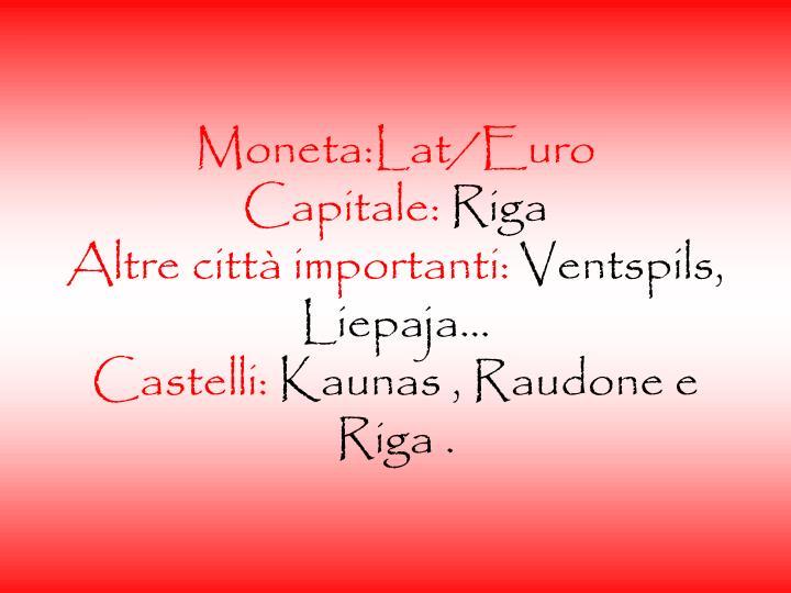 Moneta:Lat/Euro