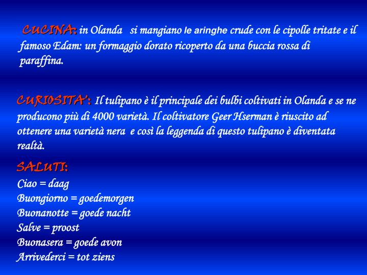 CUCINA: