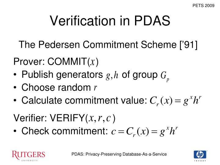 Verification in PDAS