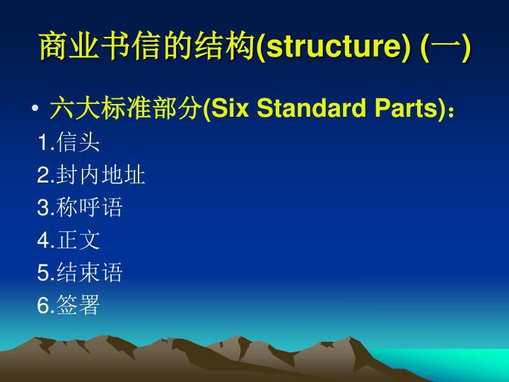 商业书信的结构