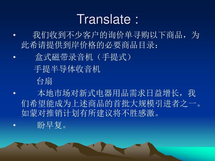 Translate :