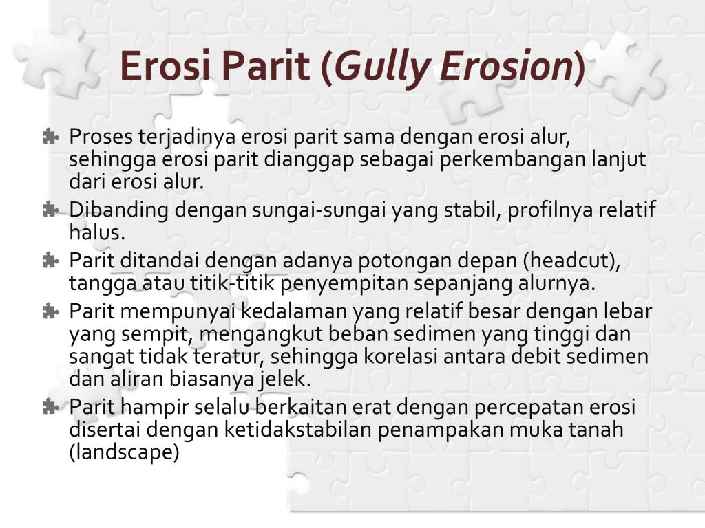 PPT - Mekanisme dan Bentuk Erosi PowerPoint Presentation