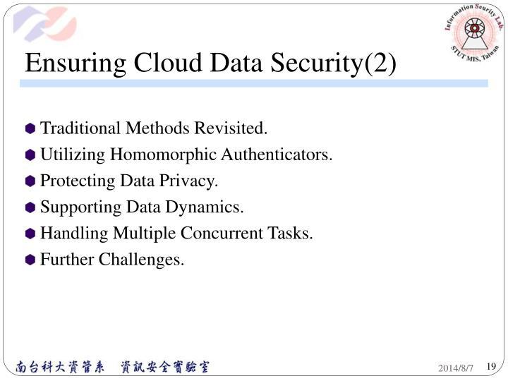 Ensuring Cloud Data Security(2)
