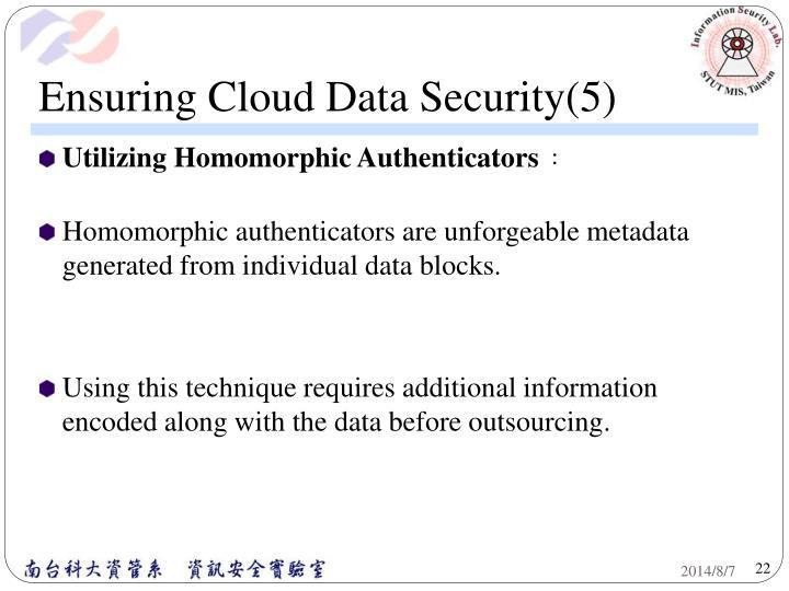 Ensuring Cloud Data Security(5)