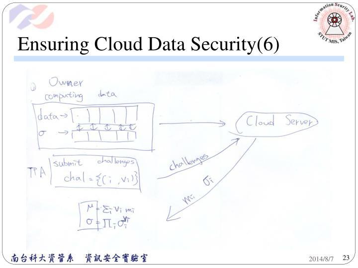 Ensuring Cloud Data Security(6)