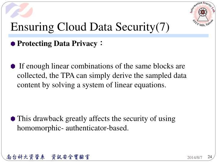 Ensuring Cloud Data Security(7)