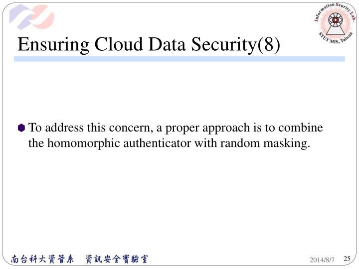 Ensuring Cloud Data Security(8)
