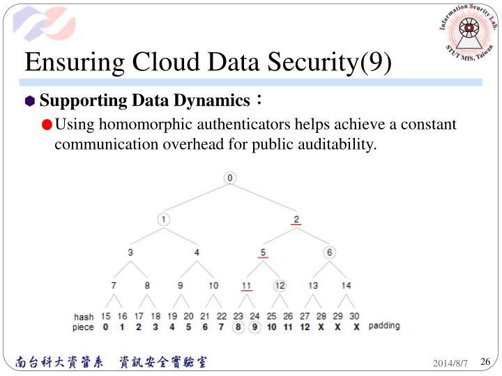 Ensuring Cloud Data Security(9)