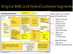 original bmc and tested customer segments