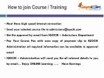 how to join course training