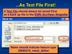 as text file first2