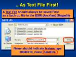 as text file first3