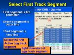 select first track segment