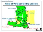 areas of voltage stability concern
