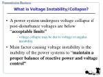 what is voltage instability collapse