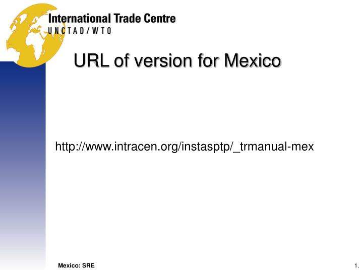 Url of version for mexico