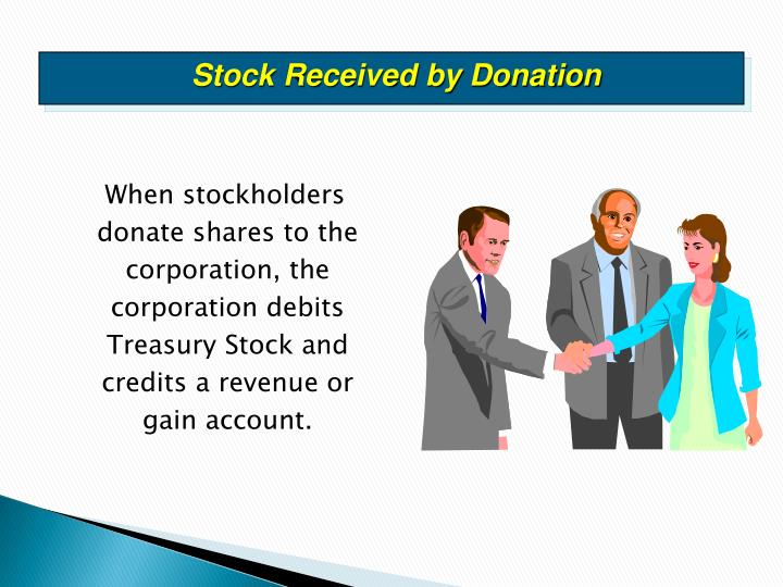 Stock Received by Donation