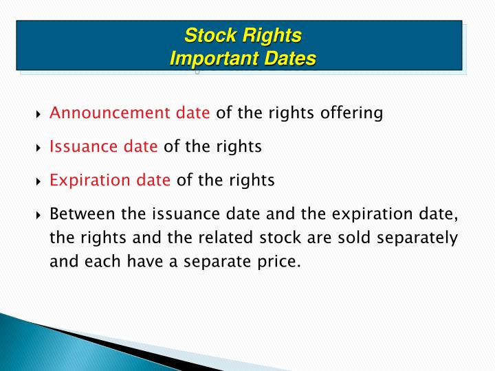 Stock Rights