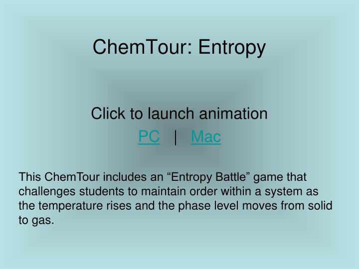 ChemTour: Entropy