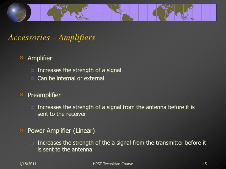 Accessories – Amplifiers