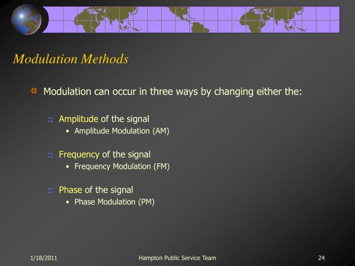 Modulation Methods