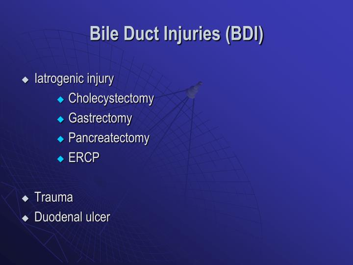 Bile Duct Injuries (BDI)
