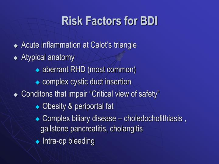 Risk Factors for BDI