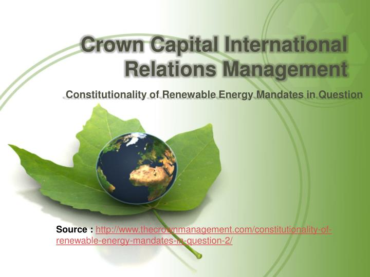 crown capital international relations management n.
