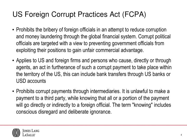 the foreign corrupt practices act essay The foreign corrupt practices act: an overview of the law and coverage-related issues by stacey l mcgraw and stacey e rufe [1] march 21, 2014.