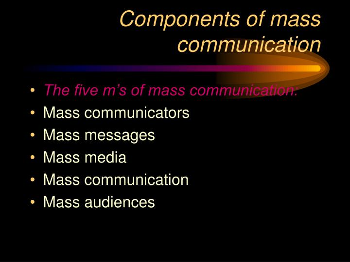 an analysis of advance of mass communication A-state's ms in media management provides an advanced degree that focuses on interpersonal and group communication in mass media and online environments with this degree, you can pursue a career in journalism, broadcasting, advertising, public relations, sales, news and broadcast or non-profit organizations.