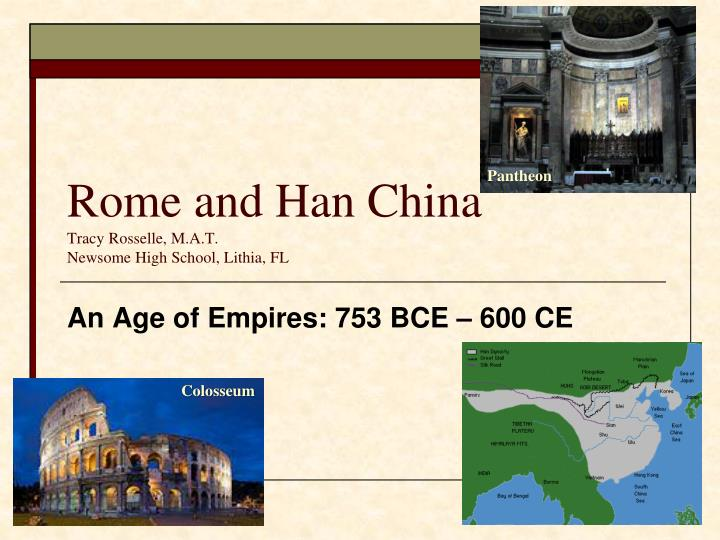 technology in han china and rome Wikianswers ® science math history literature technology health law how were rome and han china similar and different han was in eastern china, rome was in.