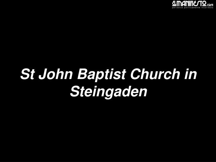 St John Baptist Church in Steingaden