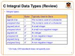 c integral data types review
