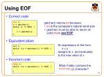 using eof