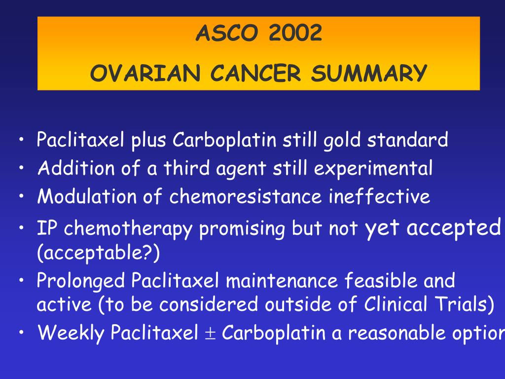 Ppt Current Standard Of Care In The Management Of Ovarian Cancer Powerpoint Presentation Id 2970142