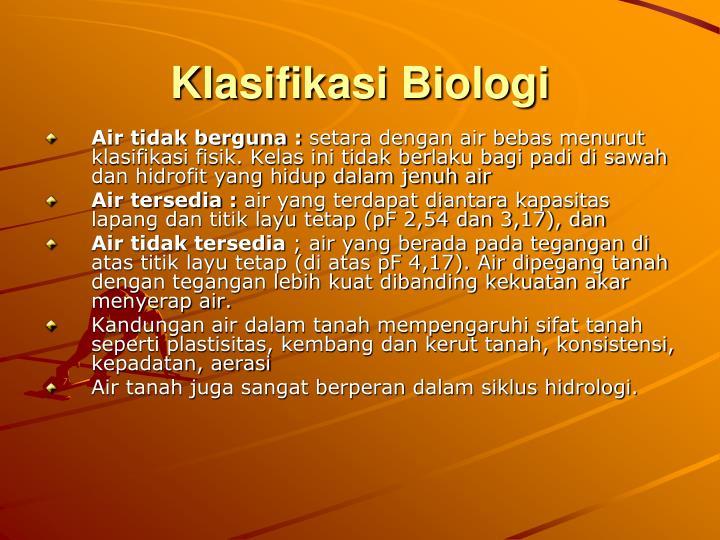 Klasifikasi Biologi
