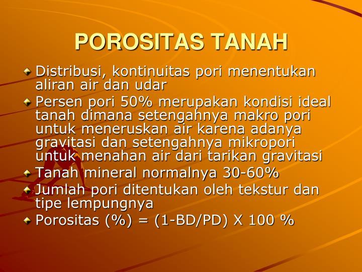 POROSITAS TANAH