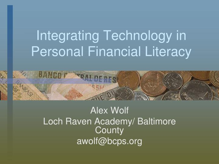 integrating technology in personal financial literacy n.