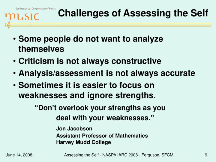 Challenges of Assessing the Self