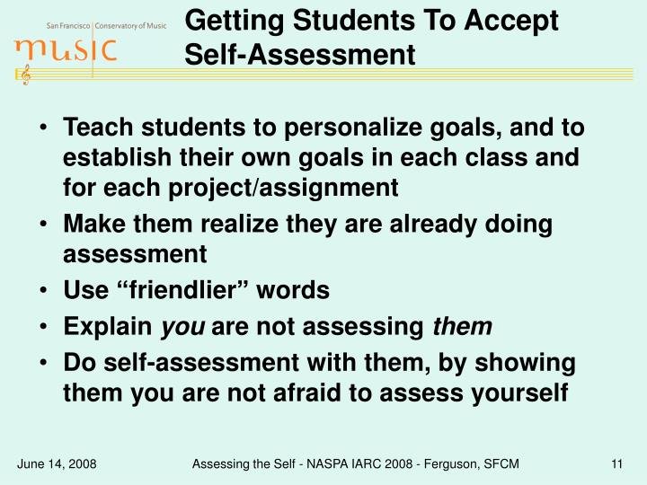 Getting Students To Accept