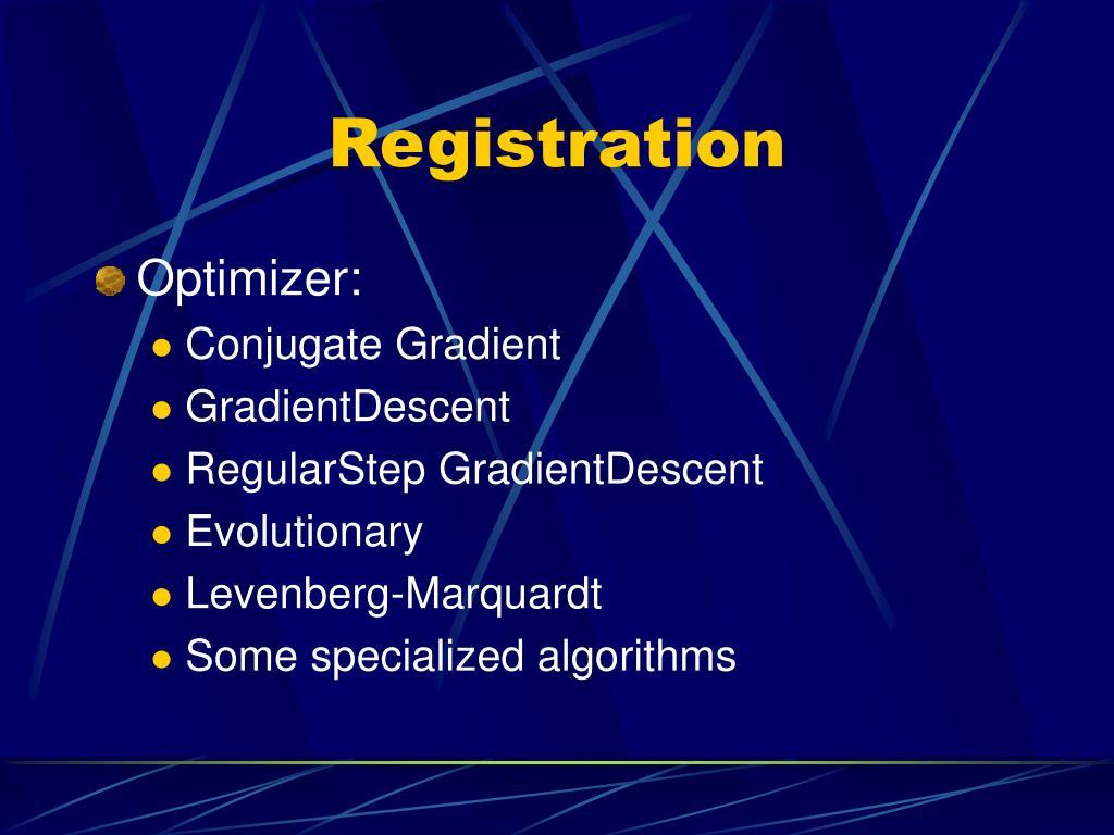 PPT - ITK The Insight Segmentation & Registration Toolkit