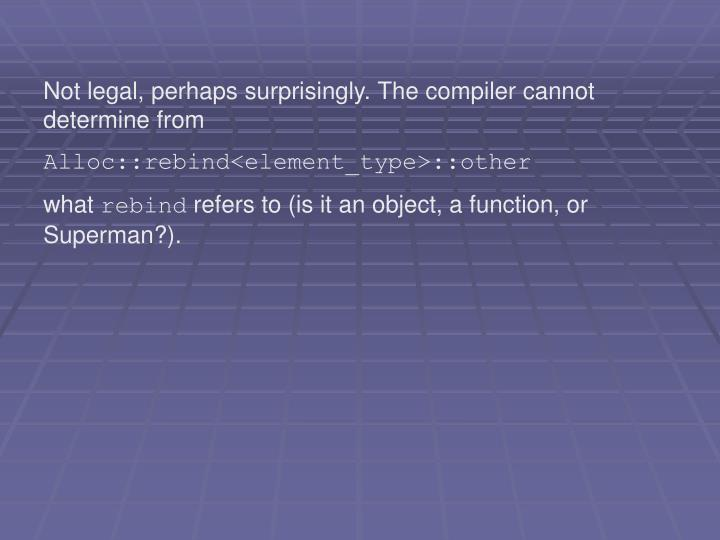Not legal, perhaps surprisingly. The compiler cannot determine from