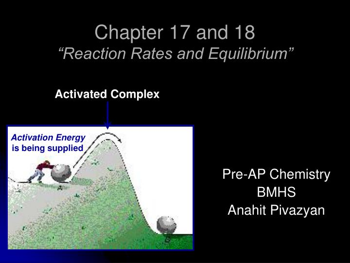 chapter 17 and 18 reaction rates and equilibrium n.