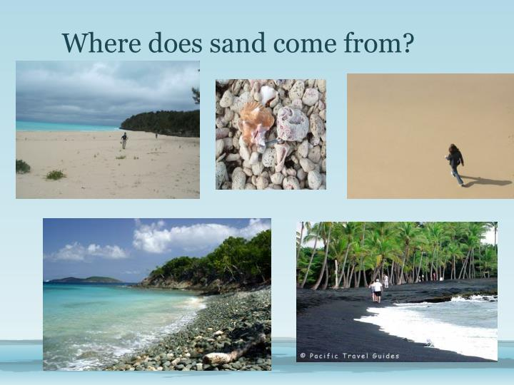Where does sand come from