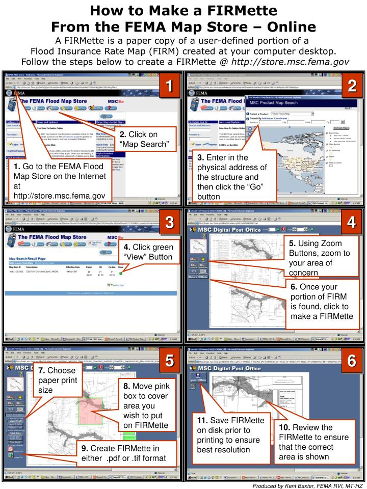 PPT How To Make A FIRMette From The FEMA Map Store Online - Firmette map