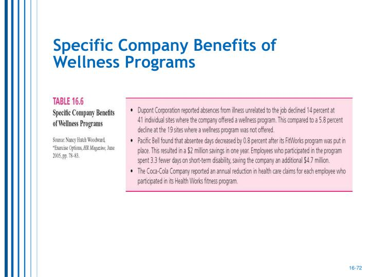 Specific Company Benefits of
