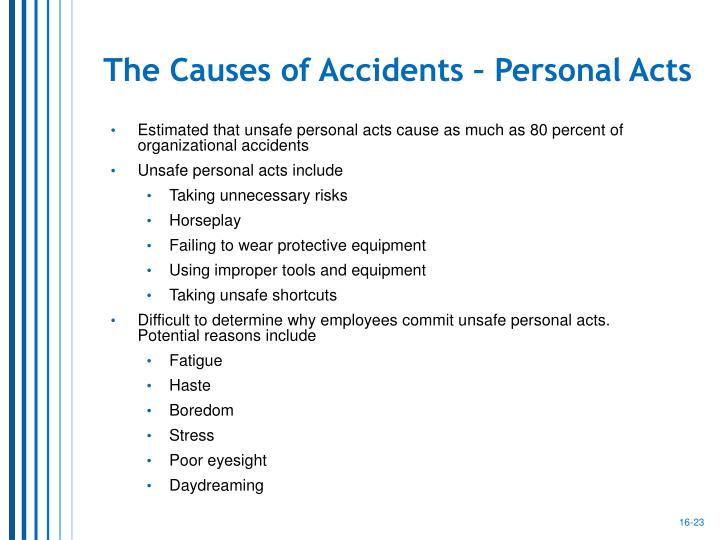 The Causes of Accidents – Personal Acts